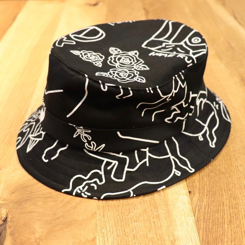 TEN BOX(テンボックス) TENBOX×FACE ACID HAT Black(N)