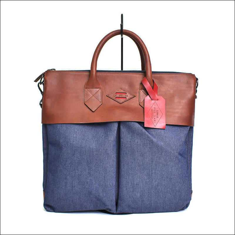 LEON FLAM(レオンフラム)SAC 21H DENIM BROWN