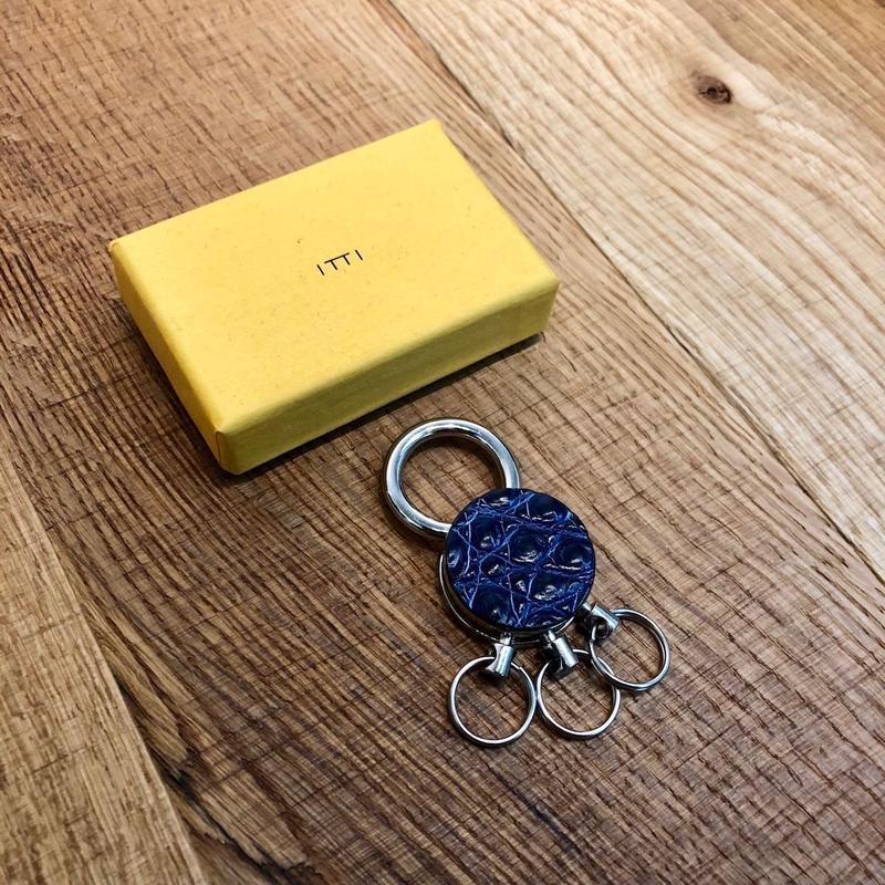 ITTI-GOODS-004-D CRISTY KEY RING /croco Indigo(N)