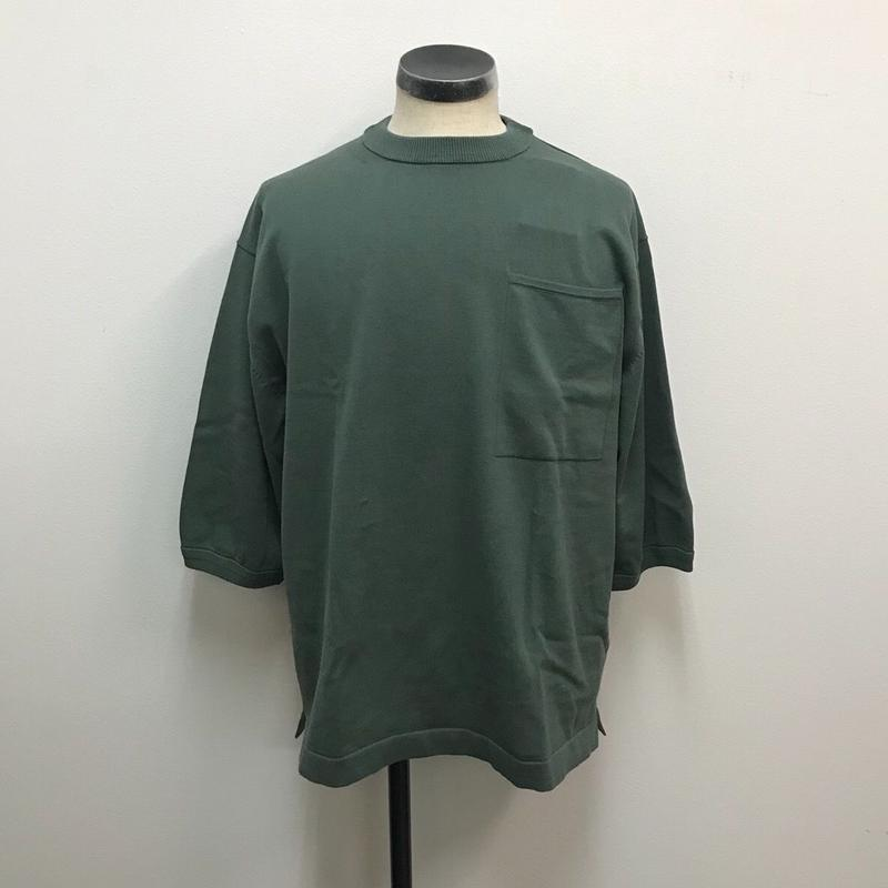 crepuscule クレプスキュール  Pocket Knit Tee 3/4 1801-006 Green(N)