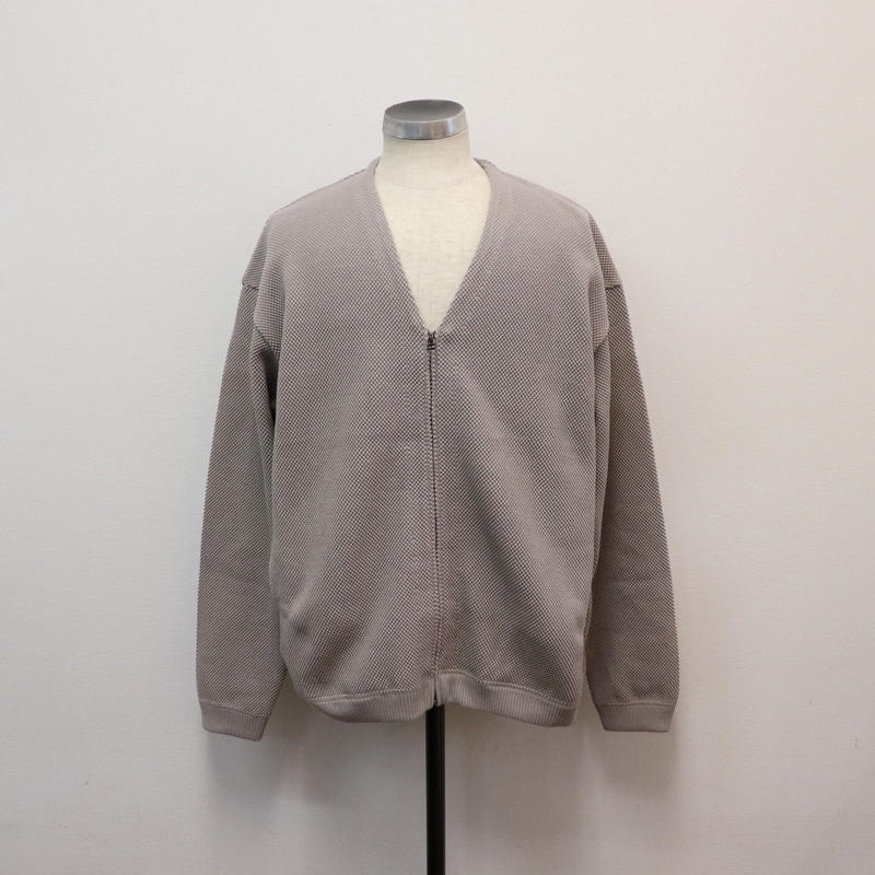 CREPUSCULE クレプスキュール moss stitch cardigan  Graybeige【1901-002】(N)