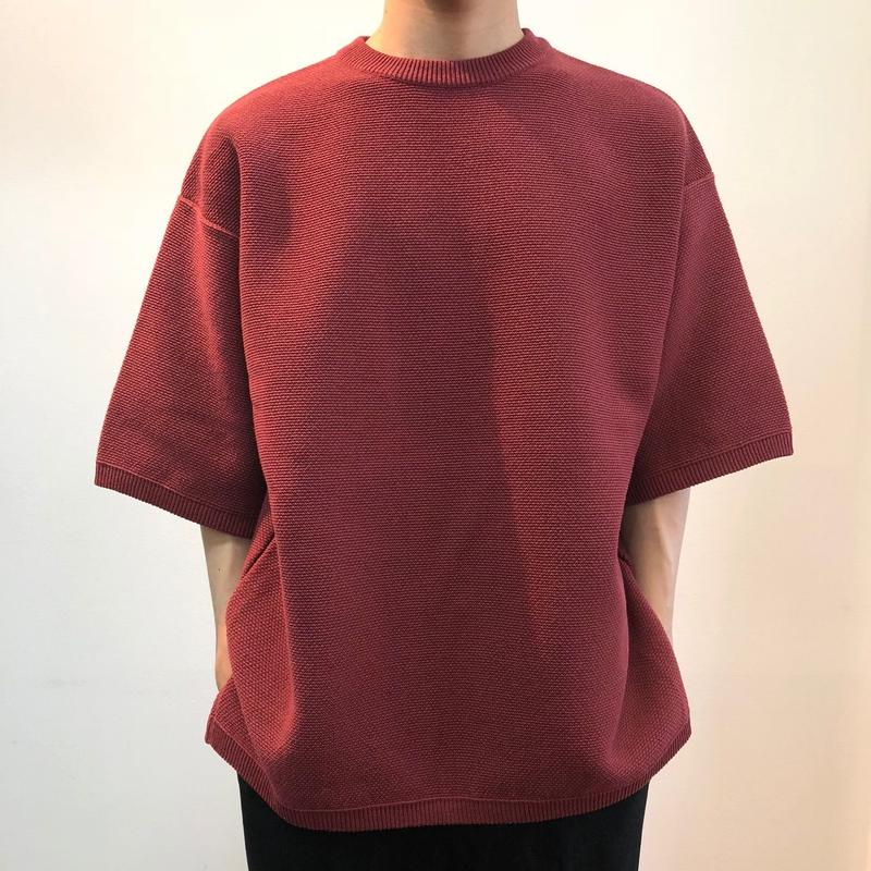 crepuscule クレプスキュール  Tuck Knit 1801-009 Red(N)