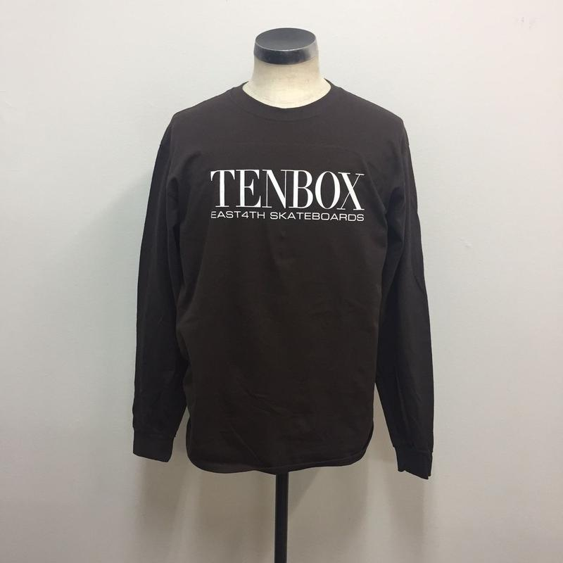 TENBOX×EAST4TH L/S TEE DARK CHOCOLATE