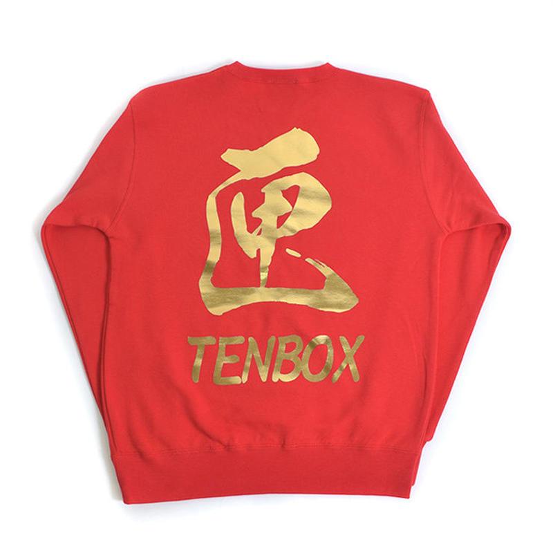 TEN BOX(テンボックス) A  TENBOX BLACKDRAGON SWEAT (RED)