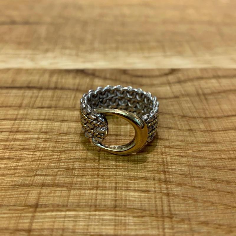 Hermès Vintage(エルメス ヴィンテージ)Stering Silver & 18k Gold Ring【SS19-VH13】(N)