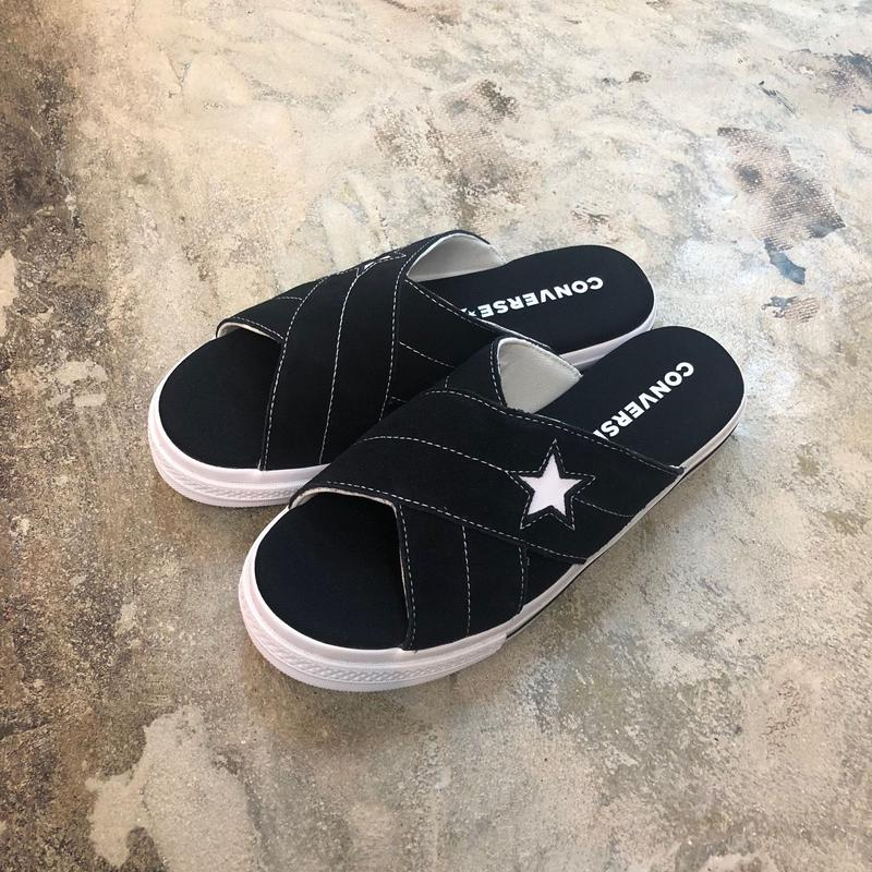 CONVERSE コンバース ONE STAR SANDAL SLIP BLACK/EGRET/WHITE 564143C (N)