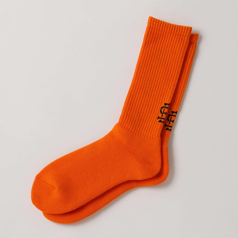 3.30(土)12:00より販売開始 SEE SEE LOGO SOCKS ORANGE(N)
