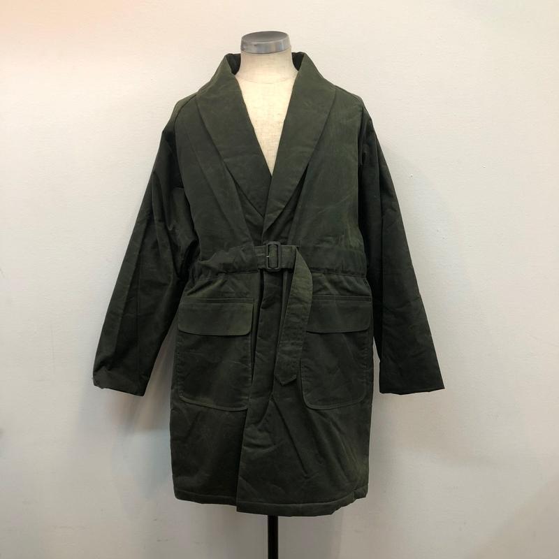 UNITUS(ユナイタス) FW17 Belted Shawl Coat Olive (Wax Cotton)【UTSFW17-J02】