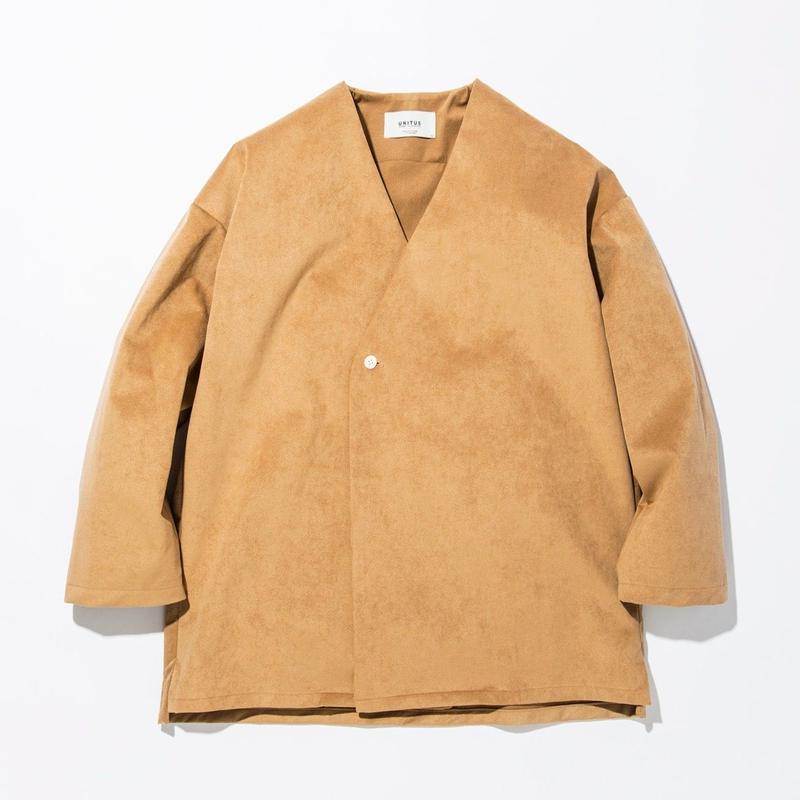 UNITUS(ユナイタス) SS17 Shirts Cardigan (Fake Suede) Beige