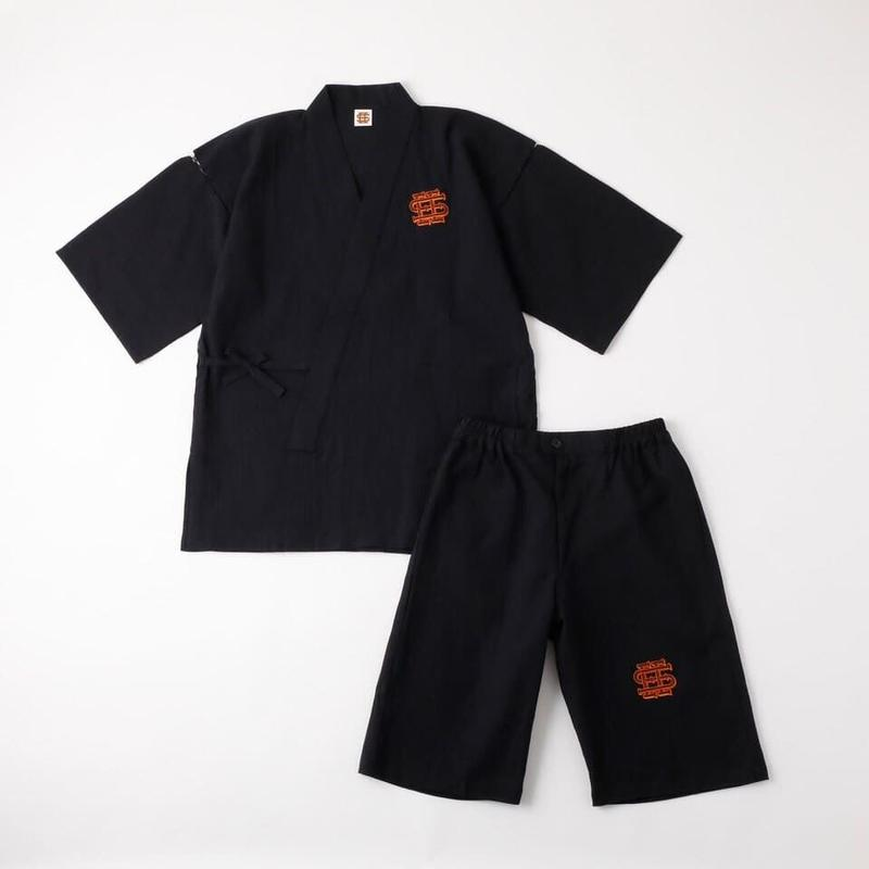 SEE SEE 甚平 SET BLACK LINEN