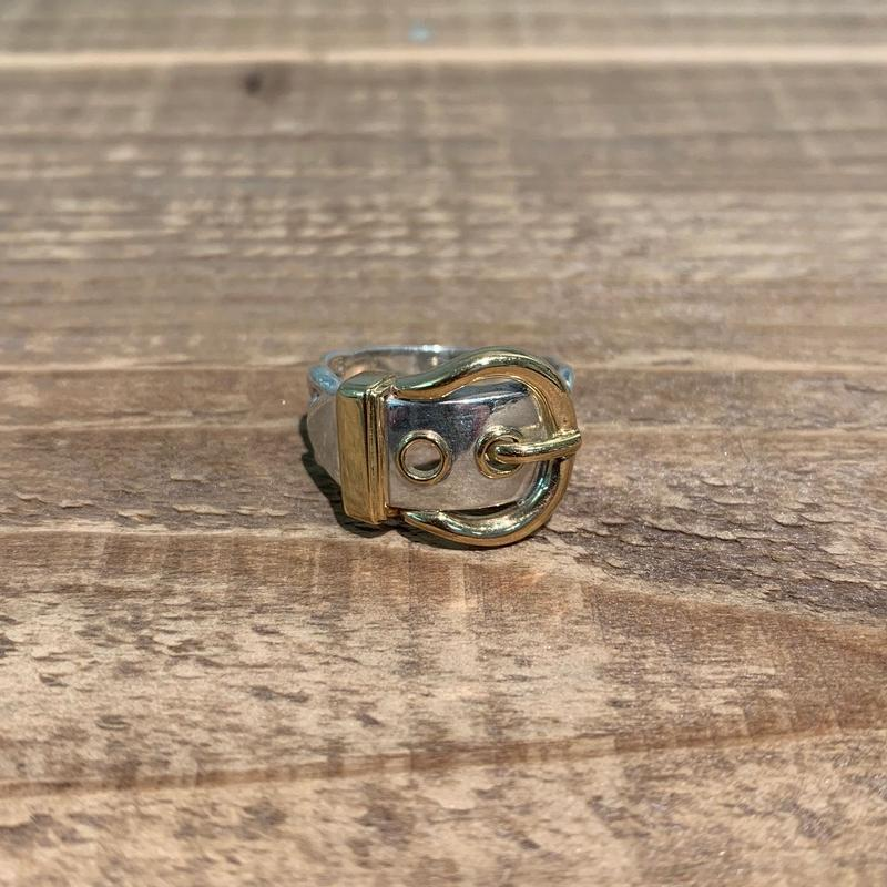 Hermès Vintage(エルメス ヴィンテージ)  Sterling Silver & 18k Gold Ring【SS19-2VH-4】(N)