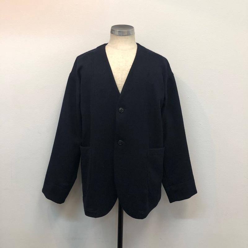 UNITUS(ユナイタス) FW17 No Collar Jacket Navy【UTSFW17-J09】
