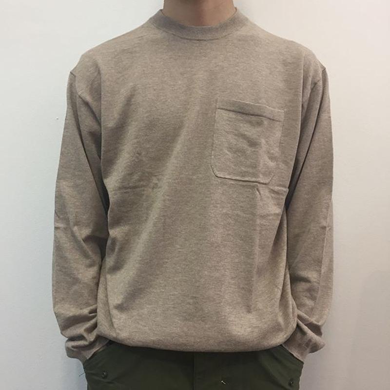 crepuscule クレプスキュール  knit tee L/S 1801-007 Beige(N)