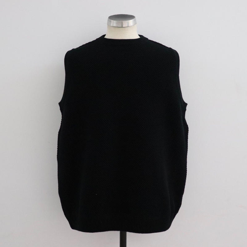 CREPUSCULE クレプスキュール moss stitch vest Black【1901-007】(N)