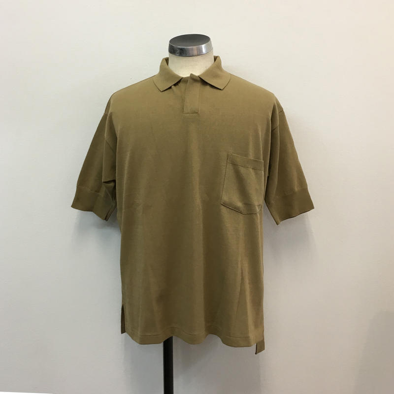 UNITUS(ユナイタス) SS18 Knit & Sewn Polo Shirts Beige【UTSSS18-CS05】(N)