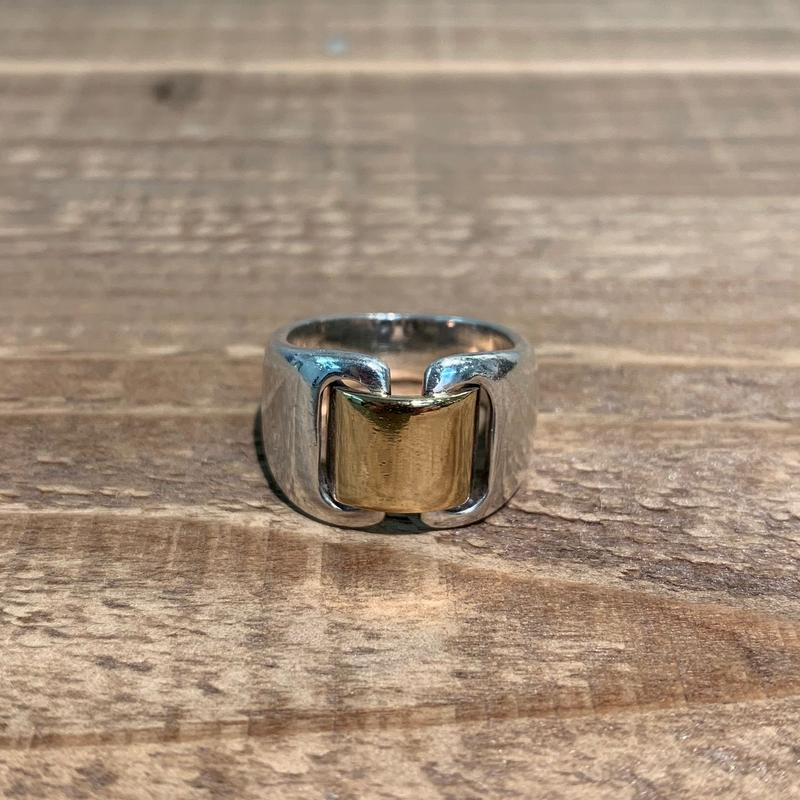 Hermès Vintage(エルメス ヴィンテージ)  Sterling Silver & 18k Gold Ring【SS19-2VH-3】(N)