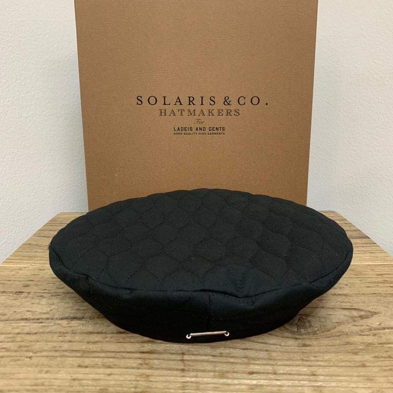 SOLARIS HATMAKERS & Co. FRENCH BERET B.PANTHER BLACK【SH-18AW-09】(N)