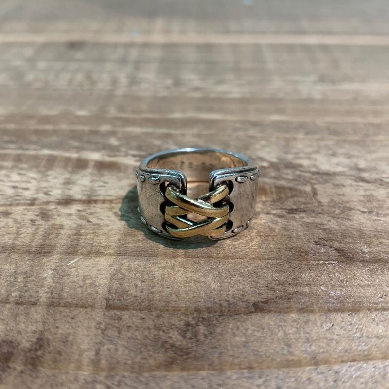 Hermès Vintage(エルメス ヴィンテージ) Sterling Silver & 18k Gold Ring【VH22】(N)
