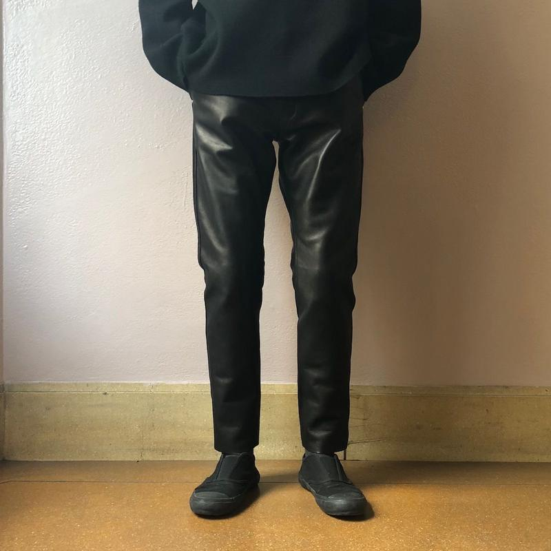 UNITUS(ユナイタス) FW18 Skinny Leather Pant Black【UTSFW18-P03】(N)