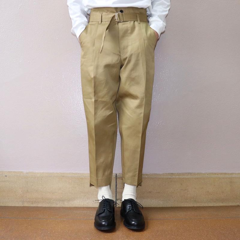 UNITUS(ユナイタス) SS19 Belted Pegtop Pant Beige【UTSSS19-P04】(N)