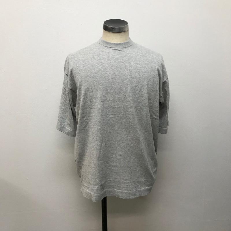 crepuscule クレプスキュール  knit tee S/S 1801-008 L.gray(N)