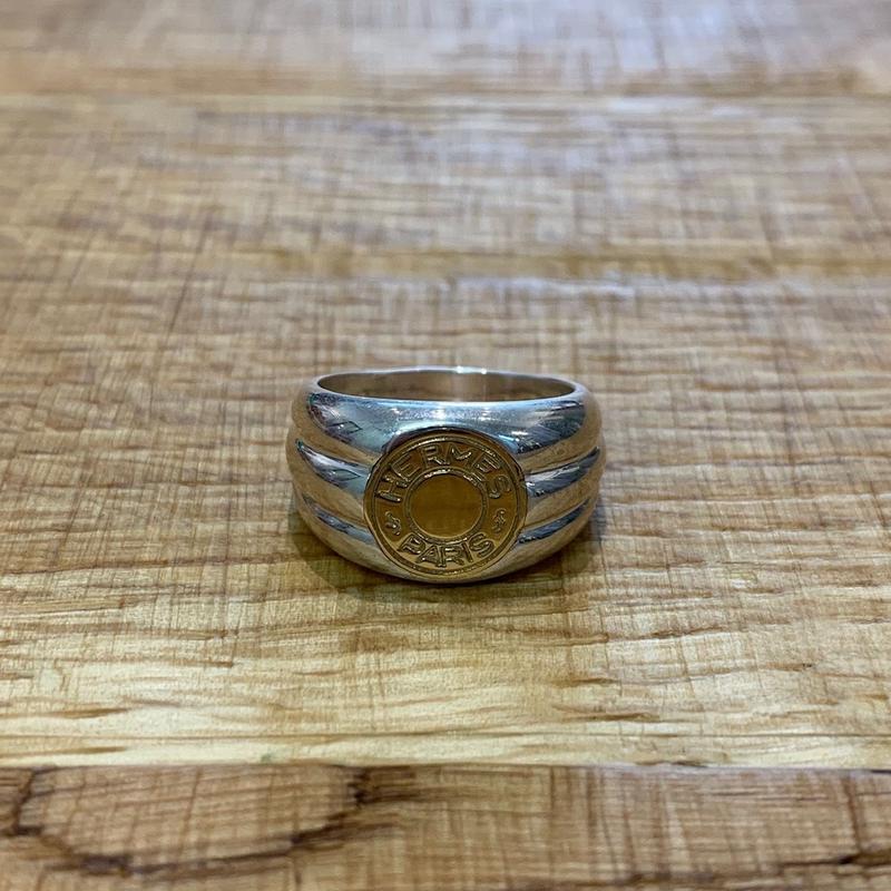 Hermès Vintage(エルメス ヴィンテージ)Stering Silver & 18k Gold Ring【SS19-VH09】(N)
