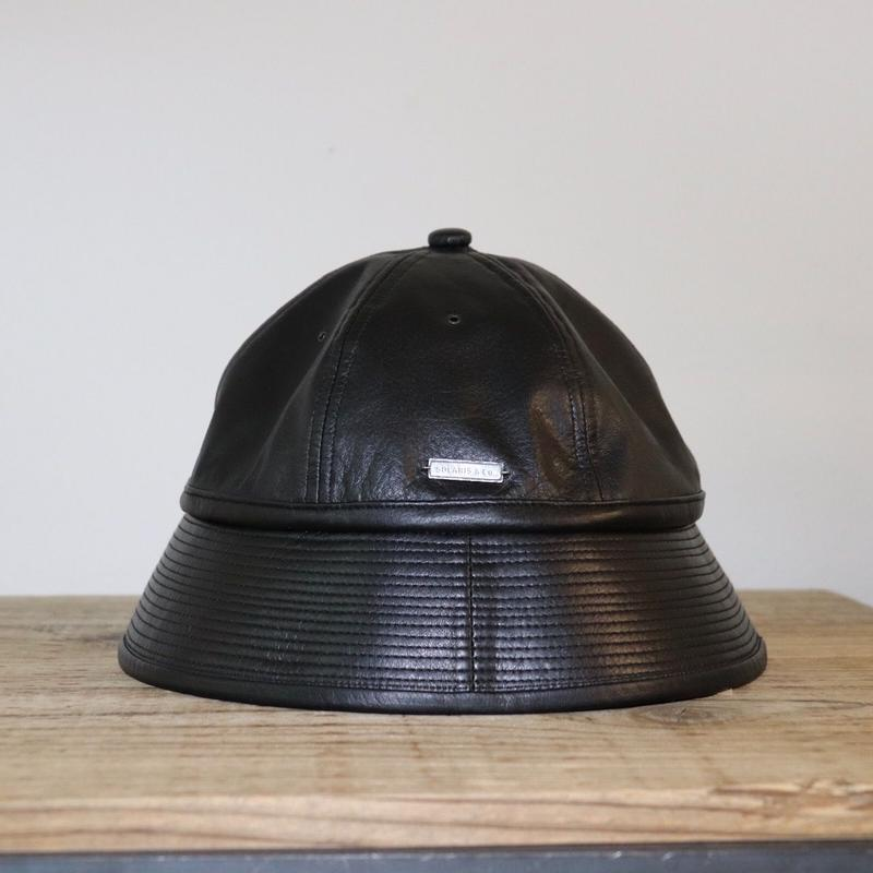 SOLARIS HATMAKERS & Co.  BUCKET HAT  BADBOY BLACK-COWHIDE【SH19SS-07】(N)