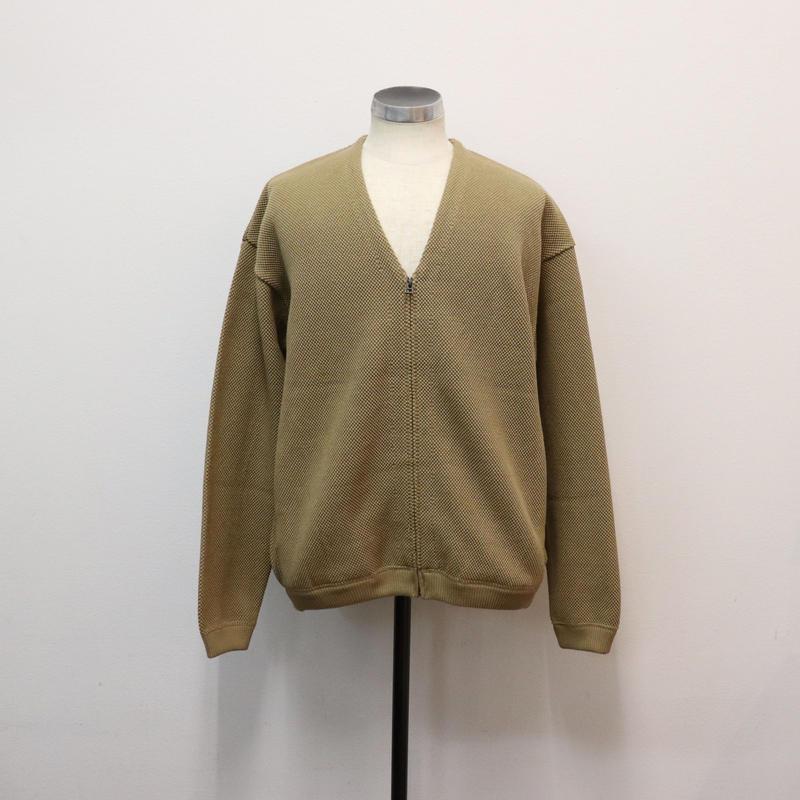 CREPUSCULE クレプスキュール moss stitch cardigan  Khaki【1901-002】(N)