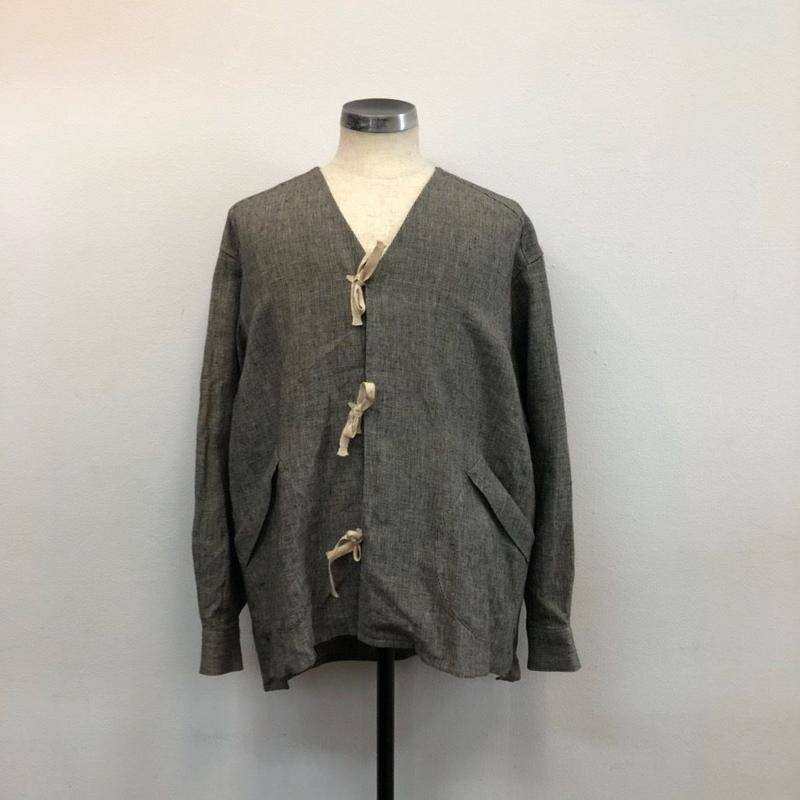 UNITUS(ユナイタス) SS19 Lace Up Cardigan Black Houndstooth【UTSSS19-S02】(N)
