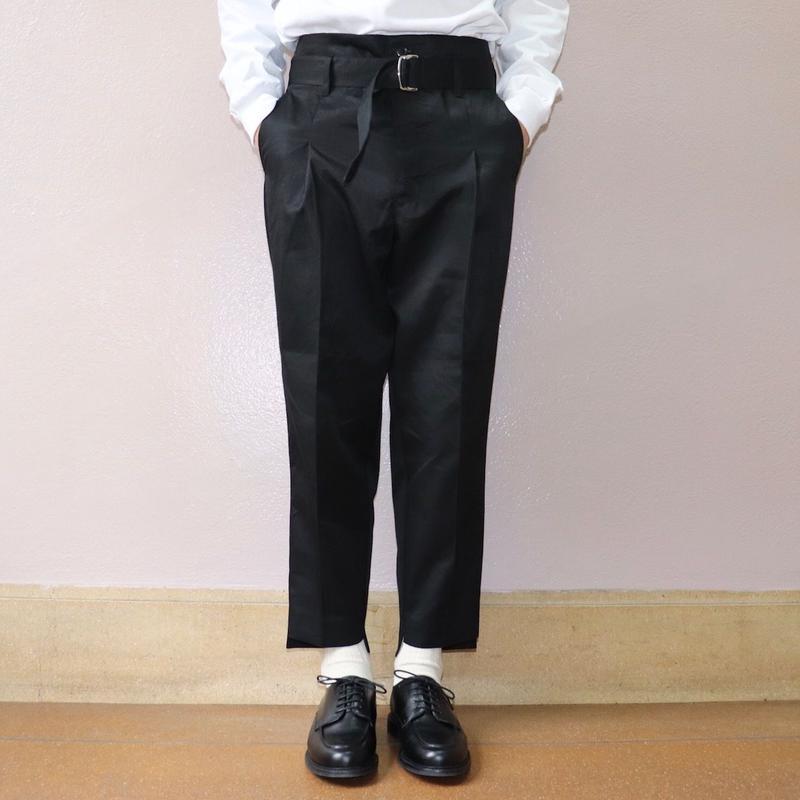 UNITUS(ユナイタス) SS19 Belted Pegtop Pant Black【UTSSS19-P04】(N)