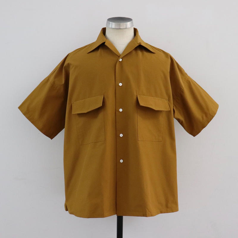 UNITUS(ユナイタス) SS19 Open Collar Big Shirt Yellow【UTSSS19-S08】(N)