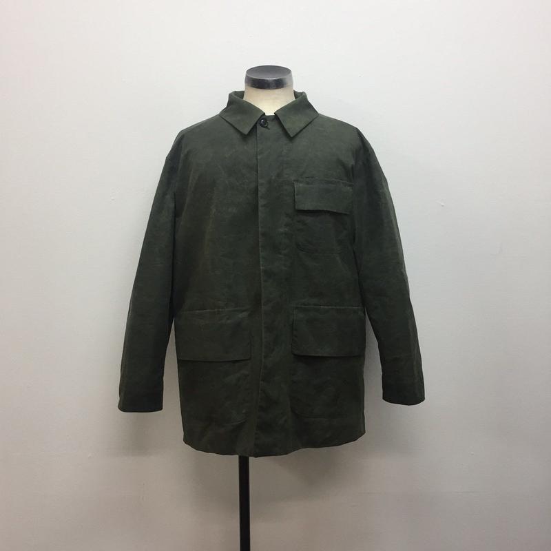 UNITUS(ユナイタス) FW18 French Work Jacket (Wax) Olive【UTSFW18-J04】(N)