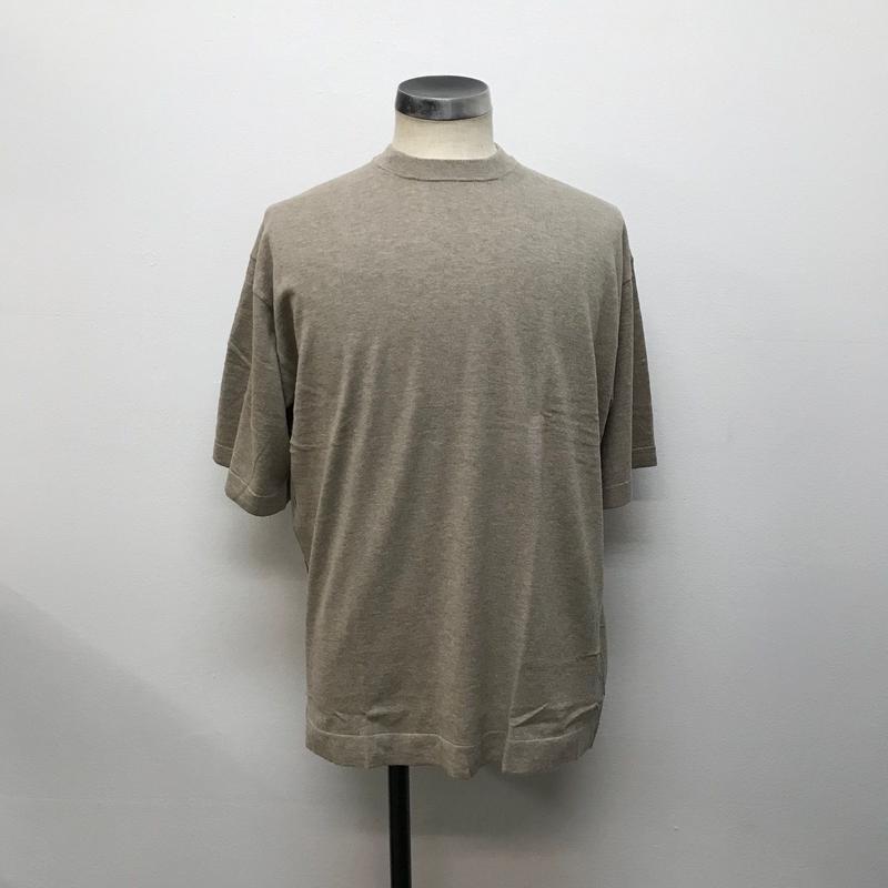 crepuscule クレプスキュール  knit tee S/S 1801-008 Beige(N)