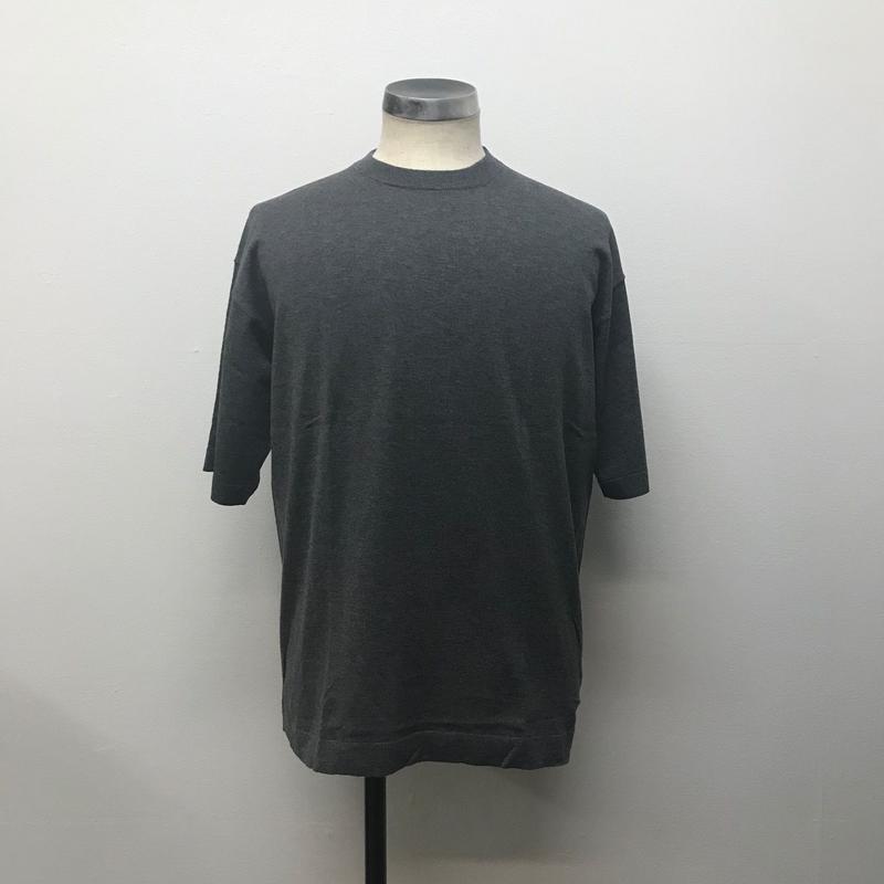 crepuscule クレプスキュール  knit tee S/S 1801-008 C.Gray(N)