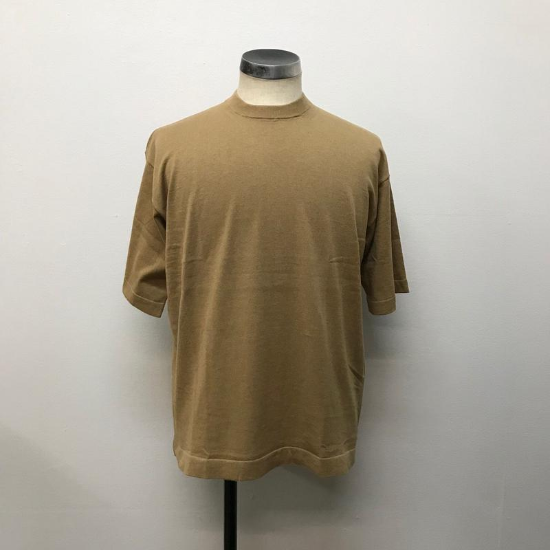 crepuscule クレプスキュール  knit tee S/S 1801-008 Camel(N)