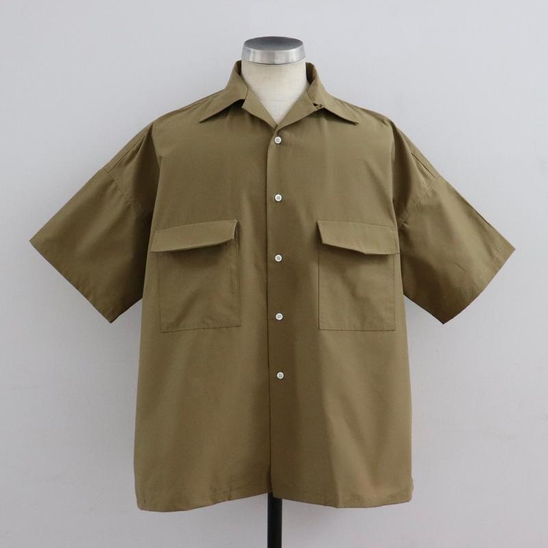 UNITUS(ユナイタス) SS19 Open Collar Big Shirt Beige【UTSSS19-S08】(N)