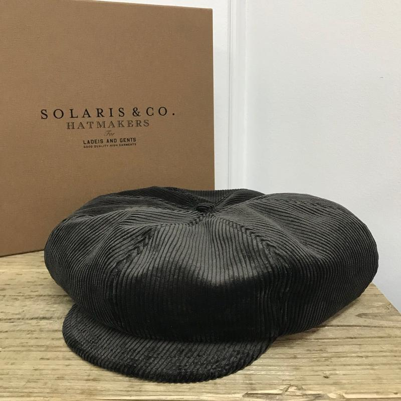 SOLARIS HATMAKERS & Co. BIG APPLE CASQUETTE NEWSBOY DARK BROWN【SH18AW-03】(N)