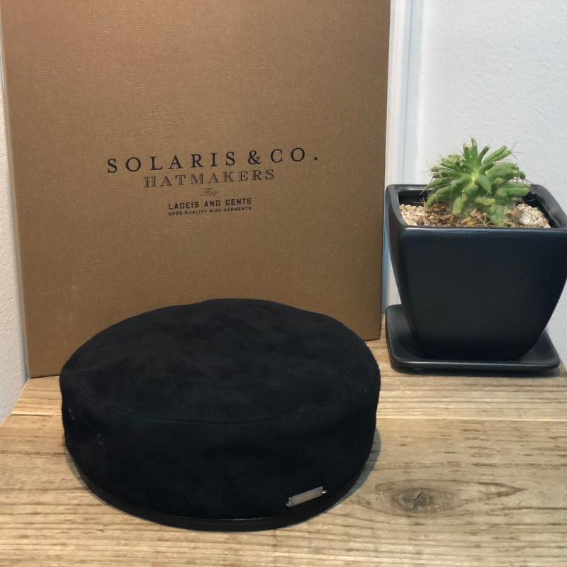 SOLARIS HATMAKERS & Co. AFRICAN CAP NAIROBI BLACK【SH18AW-10】(N)
