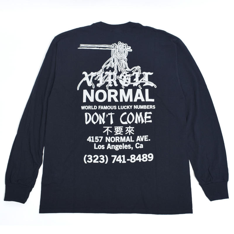 VIRGIL NORMAL バージルノーマル 【VN057】Don't come Noodle LS tee BLK(N)