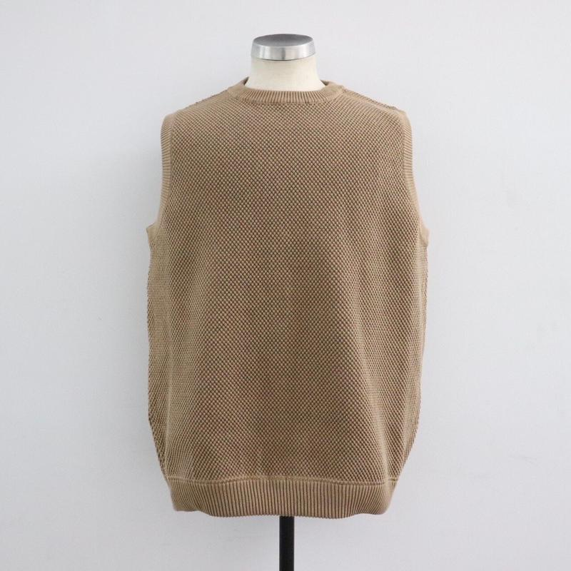 CREPUSCULE クレプスキュール moss stitch vest Brown【1901-007】(N)