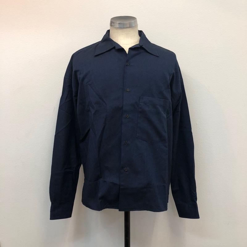 UNITUS(ユナイタス) FW17 Open Collar Shirts Navy【UTSFW17-S02】