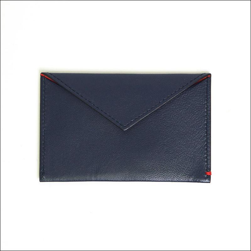 【SALE】LEON FLAM(レオン フラム)SIMPLE CARD CASE Blue Dark Blue