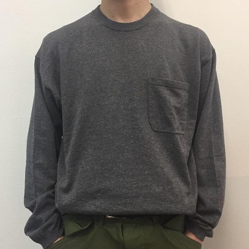 crepuscule クレプスキュール  knit tee L/S 1801-007 C.Gray(N)