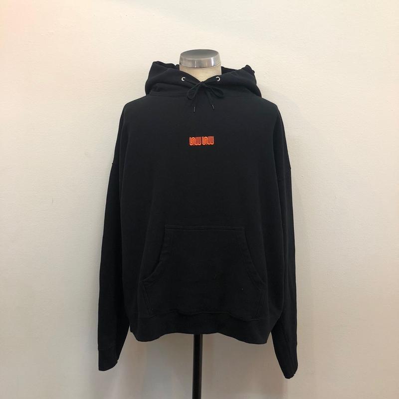 12.8(土)12:00より販売開始 SEE SEE LOGO HOODIE Black x Orange (N)