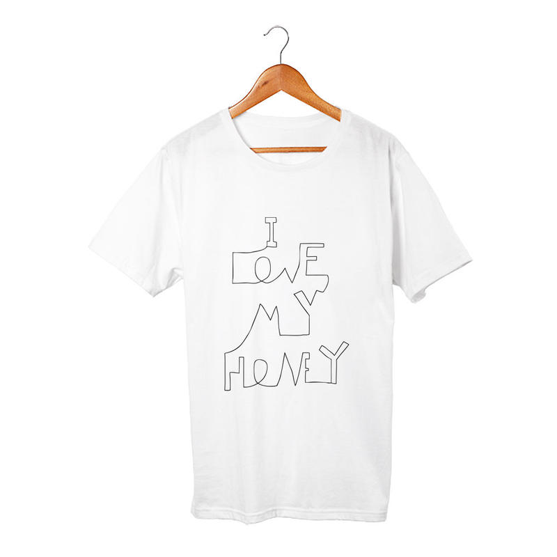I love my honey Tシャツ