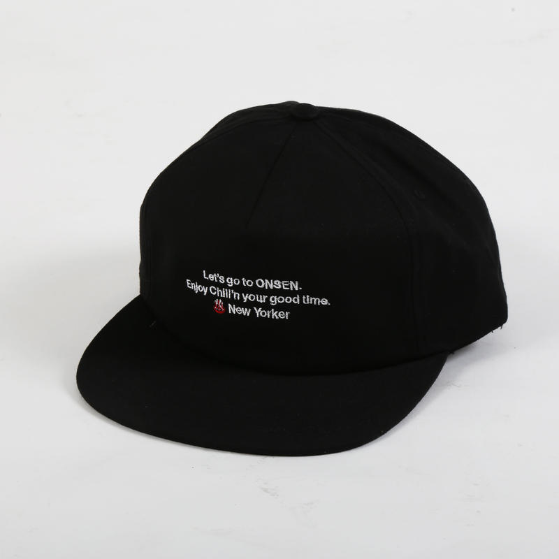 New Yorker 6panel Snap Back Cap      Black