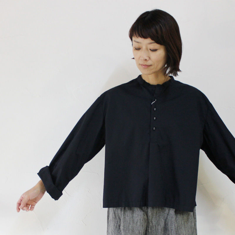 CAERULA カエルラ コーマブロードヘンリープルシャツ ♯ネイビー、ピンク 【送料無料】