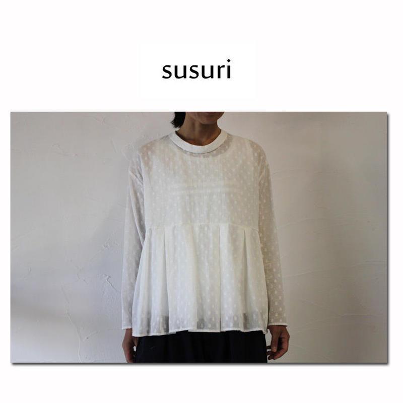 susuri ススリ ボーディングブラウス ♯ホワイト 【送料無料】