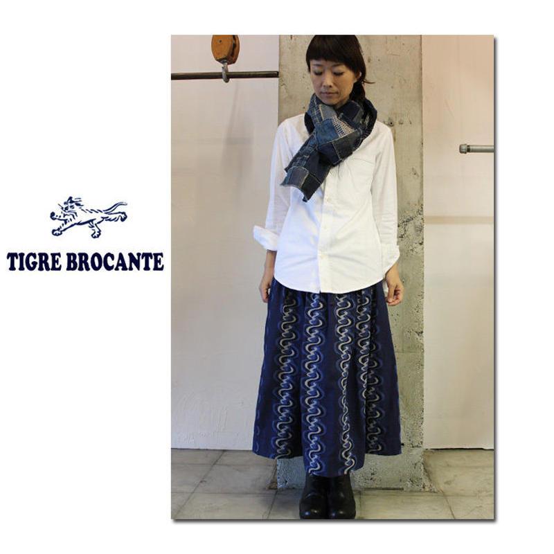 Tigre Brocante ティグルブロカンテ インディゴウェーブジャガードポケットフィセルスカート 【送料無料】