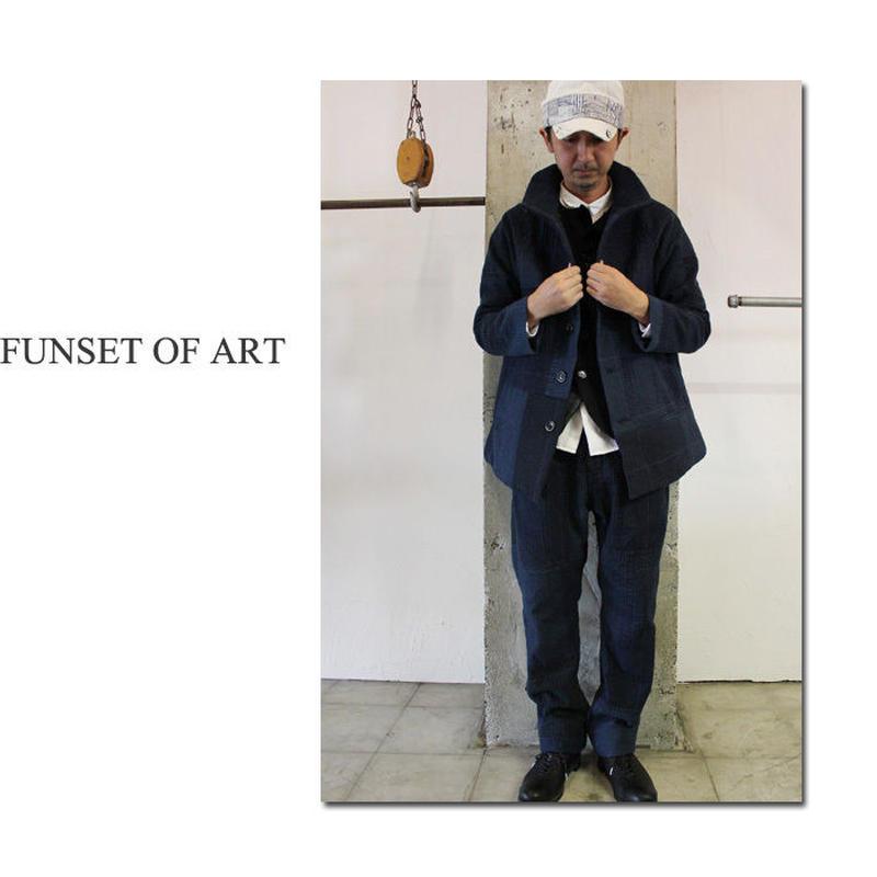 **S u K i M a 別注アイテム** FUNSET OF ART ファンセットオブアート ブラックIDG刺し子MAOコート #インディゴ 【送料無料】